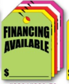 Fluorescent Mirror Hang Tags- Financing Available