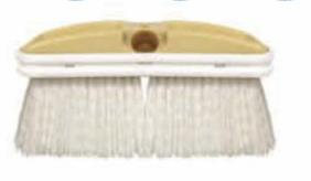 White Deck Style Scrub Brush-Stiff