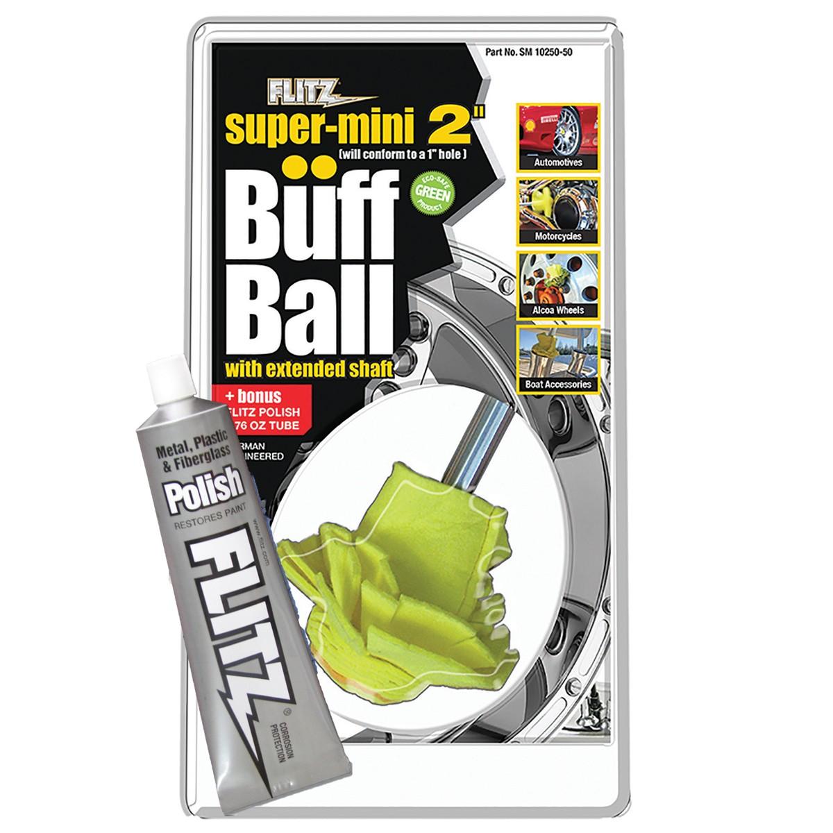 "Flitz Buff Ball   Super Mini 2"" (w/ FREE 1.76oz Paste Polish)"