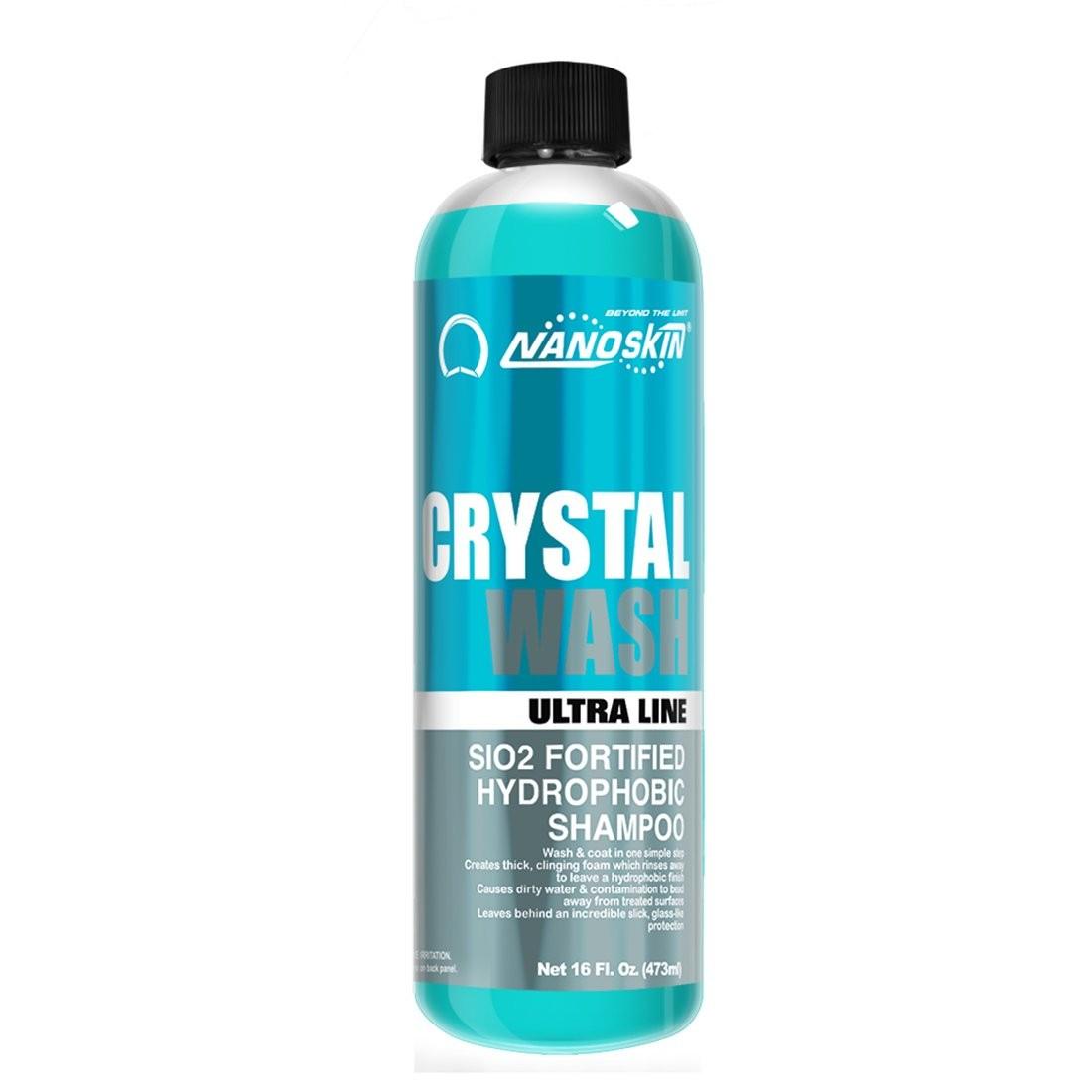 CRYSTAL WASH SiO2 Fortified Hydrophobic Shampoo-16oz