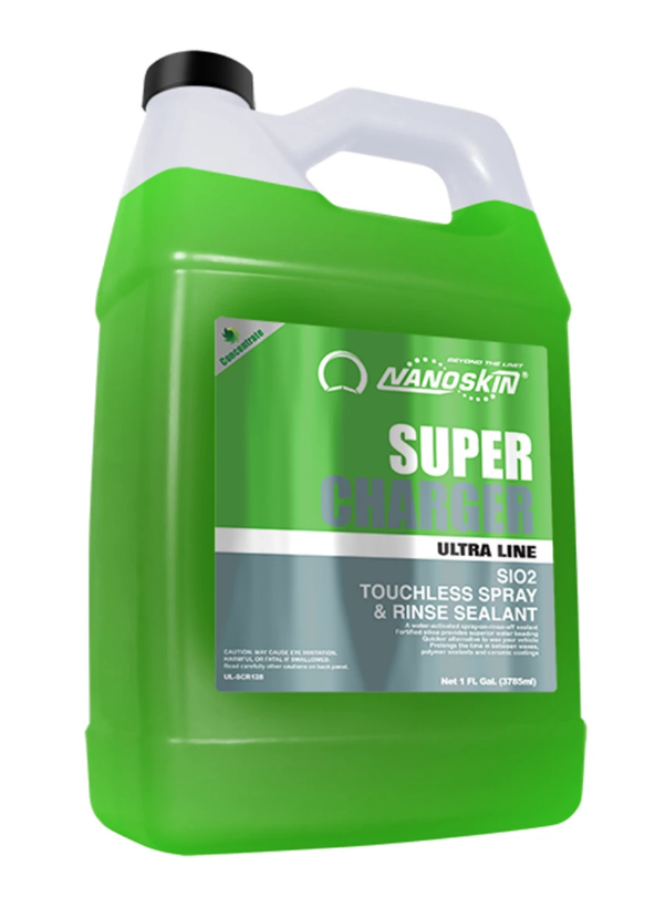 SUPER-CHARGER SiO2 Touchless Spray & Rinse Sealant-Gal Concentrate