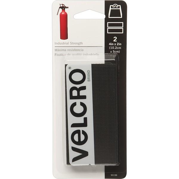 "Velcro Industrial Strength 4"" x 2"" 2 pack Black"