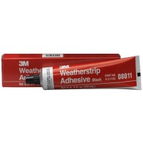 Weatherstrip Adhesive 08011 Black, 5 oz Tube