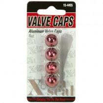 Aluminum Valve Caps-Red