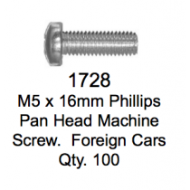 License Plate Fasteners 1728 Pan Head Macine Screw