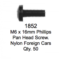 License Plate Fasteners 1852 Pan Head Screw