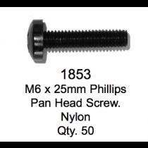 License Plate Fasteners 1853 Pan Head Screw