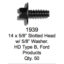 "License Plate Fasteners 1939 Slotted Head w/ 5/8"" Washer"