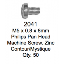 License Plate Fasteners 2041 Pan Head Machine Screw