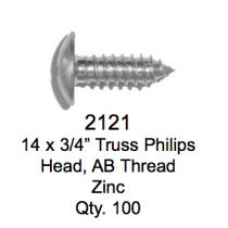License Plate Fasteners 2121 Truss Screw