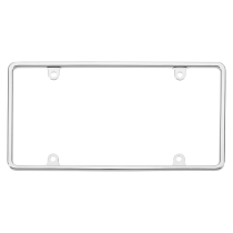 Chrome License Plate Frame-Slim