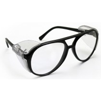 Classic Safety Glasses, Black Frame/Clear Lens