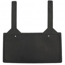 RUBBER LICENSE PLATE HOLDER W/STRAPS