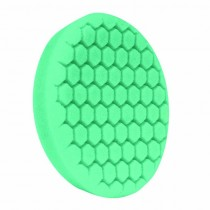"7.5"" US Green Polishing Hex Faced Foam Grip Pad with Center Ring Backing"