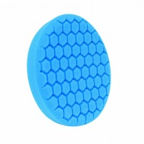 "7.5"" US Blue Soft Polishing Hex Faced Foam Grip Pad with Center Ring Backing"