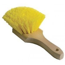 Wheel, Fender and Wheel Well Scrub Brush-Yellow Polypropylene