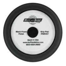 "9"" US Black Finishing Foam Grip Pad with Center Tee, Contour Edge"