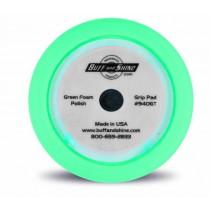 "9"" US Green Polishing Foam Grip Pad with Center Tee, Contour Edge"
