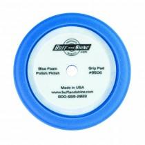 "9"" US Blue Soft Polishing Foam Grip Pad with Center Tee, Contour Edge"