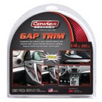 "Cowles Custom Red Gap Trim 1/4"" x 20'"