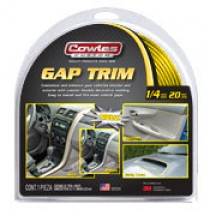 "Cowles Custom Yellow Gap Trim 1/4"" x 20'"