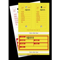 Numbered Poly Combo Tags With Vehicle Information