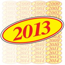 Red & Yellow Oval Year Model