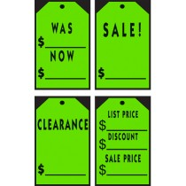 Chartreuse Stick-On Tags