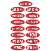 Red Black & White Oval Incentive Slogans