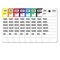 Color Stripe Key Tags
