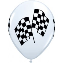 11 Inch Checkered Racing Flag Balloons