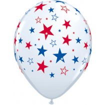 16 Red & Blue Star Balloons
