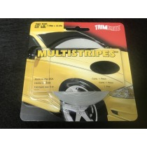 "TrimBrite Multistripes T0401 Black 5/16"" x 36' Thick & Thin"