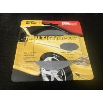 "TrimBrite Multistripes T0610 Silver 3/16"" x 36' Thin & Thin"
