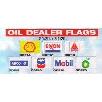 NABCO Decorative Flags: Oil Dealer Flags: 2 1/2' x 3 1/2' flags only, no poles