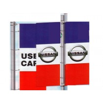 NABCO Decorative Flags: Stock and Dealer Drape Flag, Double Face, 3'x8'-Free Flying