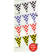 NABCO Pennants: Checkered Race Track Starter Pennants: 8 Mil. Heavy Duty