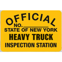 Metal Sign NYS-HT Heavy Truck Inspection
