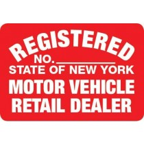 Metal Sign NYS- RD Retail Dealer