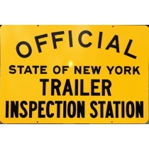Metal Signs NYS-TR Trailer Inspection