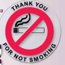 Thank You For Not Smoking Stickers- 100 pk