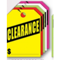 Fluorescent Mirror Hang Tags- Clearance
