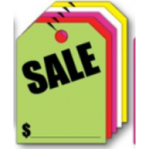 Fluorescent Mirror Hang Tags-Sale