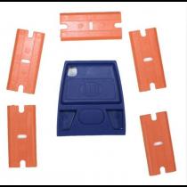 MINI SCRAPER WITH 5 PLASTIC BLADES