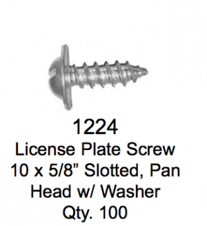 License Plate Fasteners 1224 License Plate Screw