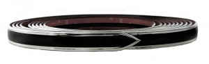 "1 1/8"" Bold Line Black Body Side Molding"