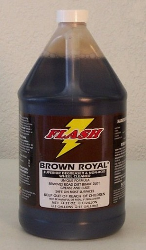 Flash Brown Royal Non-Acid Wheel & Tire Cleaner 5Gal