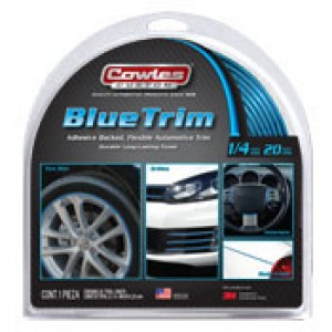 "Cowles Custom Blue Trim 1/4"" x 20'"