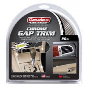 "Cowles Custom Chrome Gap Trim 1/4"" x 20'"