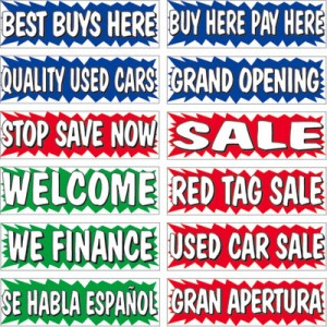 SE HABLA ESPANOL Half Curve PREMIUM WIDE Swooper Flag Red White /& Green Spanish